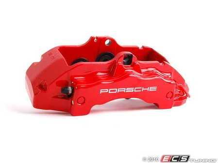 ES#1446169 - 95535142222 - Front Brake Caliper - Right - Red - Right side fitment - Genuine Porsche - Porsche