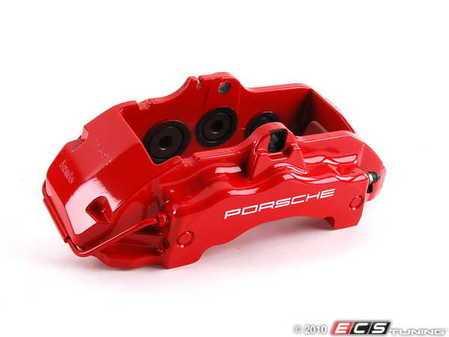 ES#1446161 - 95535142122 - Front Brake Caliper - Left - Red - Left side fitment - Genuine Porsche - Porsche
