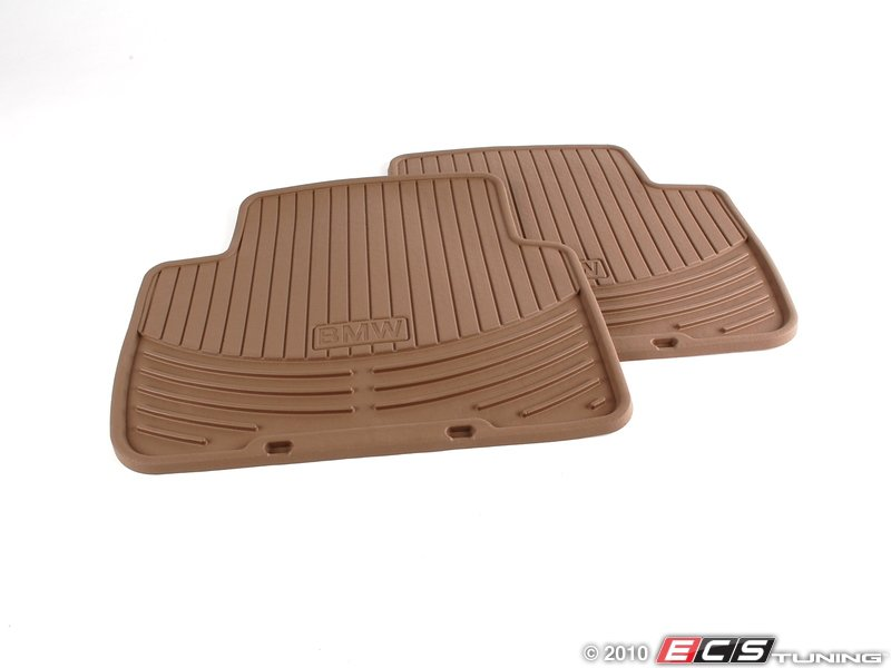 es196736 rear all weather rubber floor mat set beige