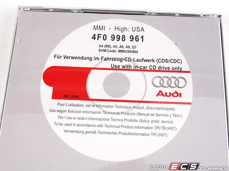genuine volkswagen audi 4f0998961 update cd for audi. Black Bedroom Furniture Sets. Home Design Ideas