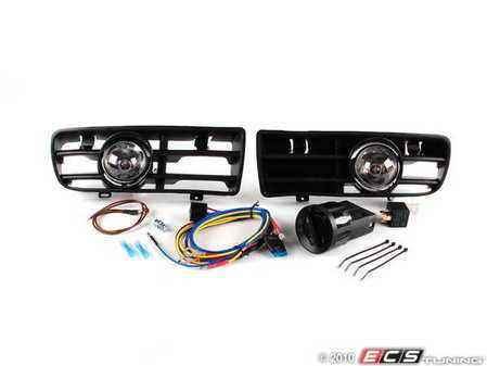 ES#10379 - 1j0998009 - Bumper Fog Light Kit - With Euro Switch - Increase your light output for added safety while increasing style - Assembled By ECS - Volkswagen