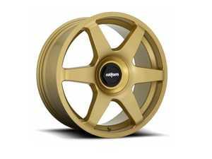 """ES#3987617 - r118188514KT1 - 18"""" SIX - Set Of Four - 18""""x8.5"""", ET35, 5x112/5x100, 66.56CB - Matte Gold - Rotiform - Audi Volkswagen"""