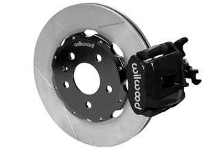 """ES#3701664 - 140-14591 - Combination Parking Brake Caliper Rear Brake Kit  - Features 12.19"""" slotted rotors & black calipers - Provides balanced brake performance and style to compliment front big brake kits! - Wilwood - Audi"""