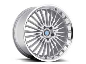 "ES#3985103 - bymulti178s40KT - 17"" Beyern Multi Spoke Square Wheel Set - Silver - Set your BMW apart with these sport styled Multi Spoke wheels!