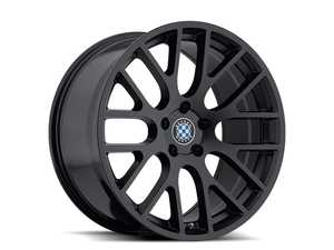 18 inch Beyern Spartan Square Wheel Set - Matte Black