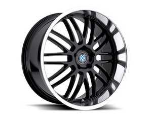 "ES#3985111 - bymesh178b40KT - 17"" Beyern Mesh Square Wheel Set - Gloss Black w/ Mirror Cut Lip - Set your BMW apart with these sport styled Mesh wheels! 17x8"" ET40 5x120 72.56cb - Beyern Wheels -"