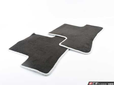 ES#1827790 - Q6680478 - Carpeted Floor Mat Set - (NO LONGER AVAILABLE) - Charcoal Center with Grey Piping and embroidered AMG logo - Genuine Mercedes Benz -
