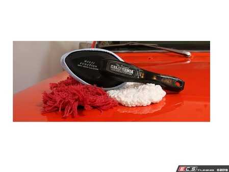 ES#3984494 - 63240 - The Original California Versa Car Duster - 3 Dusters In 1 - Includes 3 bonnets: Treated Duster, Microfiber Duster & Microfiber Glass Cloth-180 Rotating Handle - California Duster - Audi BMW Volkswagen Mercedes Benz MINI Porsche
