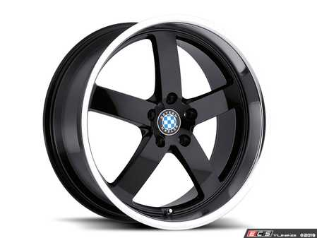 "ES#3985110 - rapp178b35KT - 17"" Beyern Rapp Square Wheel Set - Gloss Black w/ Mirror Cut Lip - Set your BMW apart with these sport styled Rapp wheels!
