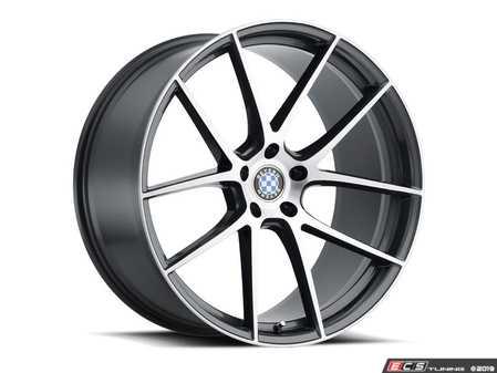 "ES#3985094 - byritz1895g45KT - 18"" Beyern Ritz Square Wheel Set - Gloss Gunmetal W/ Brushed Face - Set your BMW apart with these sport styled Ritz wheels! 18x9.5"" ET45 5x120 72.56cb - Beyern Wheels -"