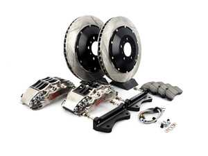 ES#3706847 - 83.137.6800.F1 - StopTech Front 6 Piston Big Brake Kit (380x32mm) - Comes with 6 piston nickel plated calipers, 2 piece zinc coated slotted rotors and stainless steel brake lines. Includes brackets and mounting bolts. - StopTech - BMW