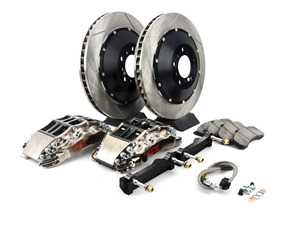 ES#3706863 - 83.160.6D00.F1 - StopTech Front 6 Piston Big Brake Kit (355x35mm) - Comes with 6 piston nickel plated calipers, 2 piece zinc coated slotted rotors and stainless steel brake lines. Includes brackets and mounting bolts. - StopTech - BMW