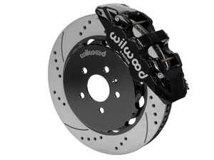 """ES#3701661 - 140-14588-D - AERO6 Front Big Brake Kit - 15.00"""" - Featuring black Aero6 six piston caliper and 15.00"""" drilled & slotted rotors - Delivers the ultimate combination for braking power and style! - Wilwood - Audi"""
