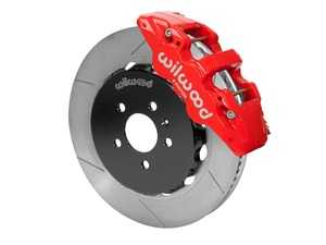 """ES#3701663 - 140-14588-R - AERO6 Front Big Brake Kit - 15.00"""" - Featuring red Aero6 six piston caliper and 15.00"""" slotted rotors - Delivers the ultimate combination for braking power and style! - Wilwood - Audi"""