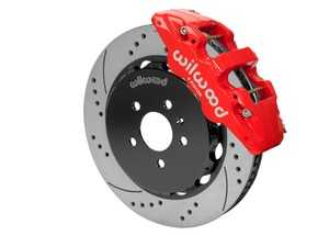 """ES#3701662 - 140-14588-DR - AERO6 Front Big Brake Kit - 15.00"""" - Featuring red Aero6 six piston caliper and 15.00"""" drilled & slotted rotors - Delivers the ultimate combination for braking power and style! - Wilwood - Audi"""