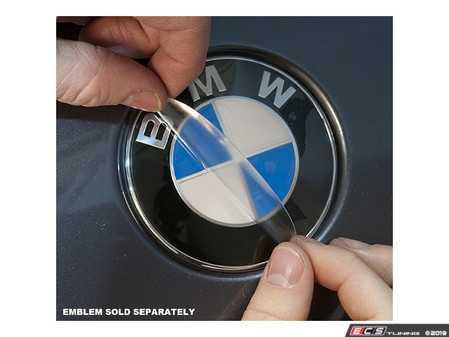 ES#3678540 - es375 - Hood/Trunk Emblem Protective Shield - Don't let your emblem fade! - Bavarian Autosport - BMW