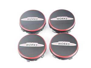 "ES#3712241 - 36122469710 - Floating Center Cap ""JCW"" - set - Set of 4 floating center caps, center caps stay still while the wheels move! - Genuine MINI - MINI"