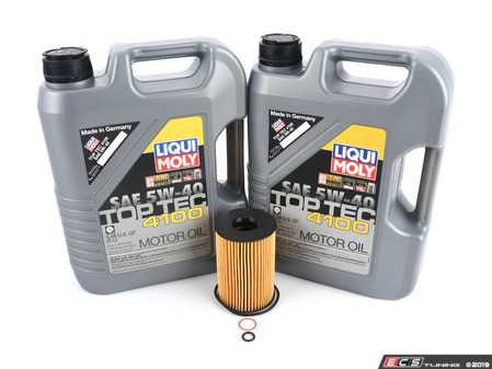 ES#3658477 - 11427583220KT2 - Liqui Moly Top Tec Oil Change Kit  - Includes ten liters of Liqui Moly Special Tec LL 5w-40 synthetic engine oil, Hengst oil filter and new drain plug - Assembled By ECS - BMW