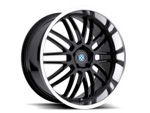 "ES#3988307 - bymesh1985b30KT - 19"" Beyern Mesh Square Wheel Set - Gloss Black W/ Mirror Cut Lip - Set your BMW apart with these sport styled Mesh wheels! 19x8.5"" ET30 5x120 72.56cb - Beyern Wheels -"