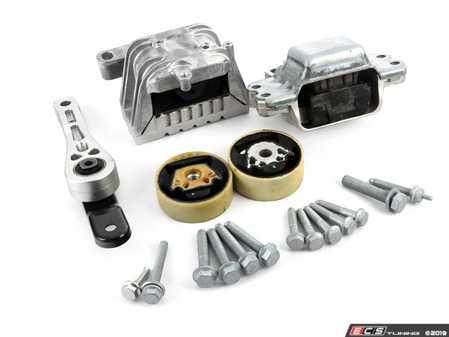 ES#2593518 - 1K0199855BBKT2 - Complete Drivetrain Mount Kit - Includes new engine/transmission mounts with hardware - Assembled By ECS - Audi