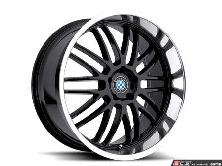 "ES#3988331 - bymesh1885b15KT - 18"" Beyern Mesh Square Wheel Set - Gloss Black W/ Mirror Cut Lip - Set your BMW apart with these sport styled Mesh Style wheels!