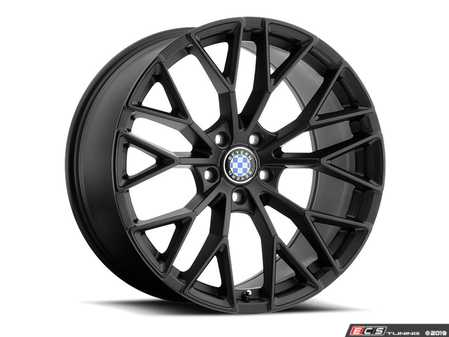 "ES#3988360 - antler1885b30KT - 18"" Beyern Antler Square Wheel Set - Matte Black W/ Gloss Black Face - Set your BMW apart with these sport styled Antler wheels!