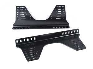 ES#3192064 - HC/925 - Alluminum tall brackets - 36 holes | Black - Mount your OMP racing seat with confidence! - OMP - BMW MINI
