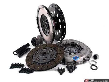 ES#2826503 - 003886ECS01AKT3 - Performance Lightweight Flywheel clutch Kit - Stage 2 Daily - ECS Lightweight Flywheel with a Southbend Stage 2 clutch kit rated at 395ft/lbs - ECS - Audi