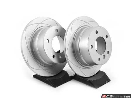ES#3680480 - 34216794298kt4 - Rear PremiumOne Brake Rotors - Pair (272x10) - (NO LONGER AVAILABLE) - New brake rotor to restore your stopping power - Gas Slotted - ATE - BMW