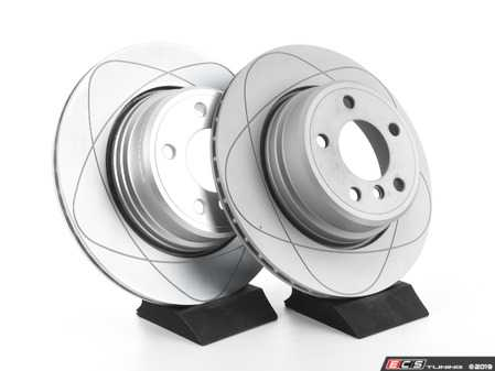 ES#3680482 - 34216756849kt3 - Rear PremiumOne Brake Rotors - Pair (324x20) - New brake rotor to restore your stopping power - Gas Slotted - ATE - BMW