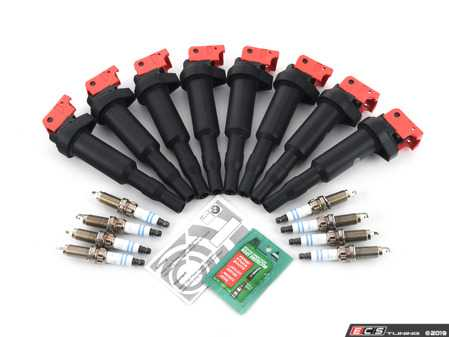 ES#3690108 - 12137594937KT9 - Performance Ignition Service Kit - Everything you need to service your ignition system including Bosch spark plugs and Bav Auto ignition coils - Assembled By ECS - BMW