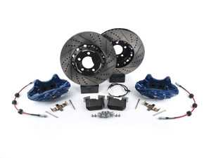 ES#3447563 - 009607ECS01AKT13 - ECS F30 M Performance Front Big Brake Kit - Blue - Upgrade to M Performance calipers and 370x30mm 2-piece front rotors with Genuine BMW pads - ECS - BMW