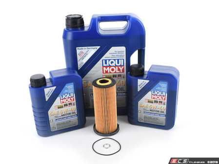 ES#2996281 - 06e115562a2KT - Oil Service Kit - Featuring a Hengst Filter and Liqui Moly Leichtlauf High Tech Synthetic oil - Assembled By ECS - Volkswagen