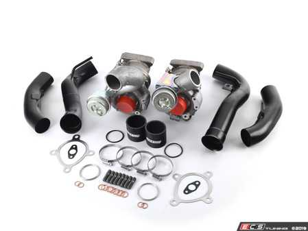 ES#3658989 - 53049880025/26KT - RS4 K04 Turbochargers - Complete Kit - Comprehensive kit includes the left & right side RS4 K04 turbochargers, 034Motorsport RS4 Inlet Pipe set, and associated installation hardware - Assembled By ECS - Audi