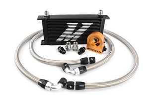 ES#2764104 - MM0CULTBK - Universal Oil Cooler - 19 Row, with Thermostat - Black - Serious engine oil cooling for the most demanding engines - Mishimoto - Audi BMW Volkswagen MINI