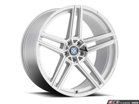 "ES#3994410 - gerade229s11KT - 22"" Beyern Gerade Square Wheel Set - Silver W/ Mirror Cut Face - Set your BMW apart with these sport styled Gerade wheels!
