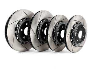 ES#3659756 - 013928ECS03-01KT - Front and Rear Slotted 2-Piece Semi-Floating Brake Rotor Kit (340x30/310x22) - Maximize your savings and go light! Drop 13.10lbs of rotational mass! - ECS - Audi Volkswagen