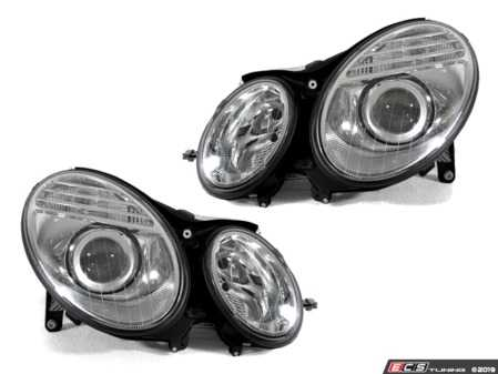 ES#3663035 - 440-1126PXLD-EM - Facelift-Look Halogen Projector Headlight Set - Chrome - Give your '03-'06 E-Class the look of the '07-'09 facelifted model! - Depo - Mercedes Benz