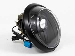 ES#3996463 - EL13BL.CL.BLK - 911/930/964 LED Headlight Conversion Set - Black Reflector, Clear Lens, Black Trim Ring - Transform the Look and the night time drivability of your Classic Porsche - Rennline - Porsche
