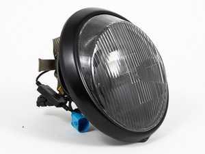 ES#3996466 - EL13BL.FL.BLK - 911/930/964 LED Headlight Conversion Set - Black Reflector, Fluted Lens, Black Trim Ring - Transform the Look and the night time drivability of your Classic Porsche - Rennline - Porsche