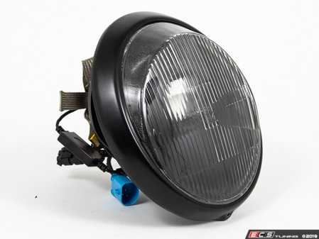 ES#3996466 - EL13BL.FL.BLK - 911/930/964 LED Headlight Conversion Set - Black Reflector, Fluted Lens, Black Trim Ring - Transform the Look and the night time drivability of your Classic Porsche - Rennline - Porsche
