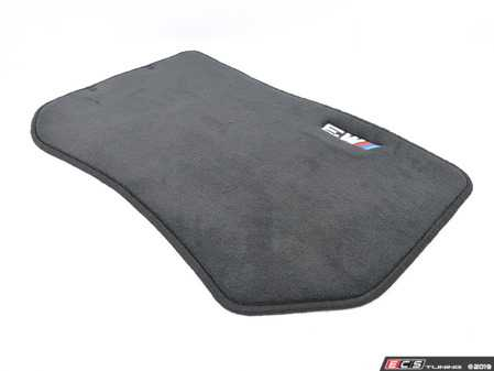 ES#195778 - 82111469805 - ///M Carpeted Floor Mat Set - Anthracite - Freshen up your interior with new floor mats. Embroidered with M3 logo. - Genuine BMW - BMW