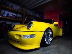 ES#3996464 - EL13BL.CL.PRI - 911/930/964 LED Headlight Conversion Set - Black Reflector, Clear Lens, Primed Trim Ring - Transform the Look and the night time drivability of your Classic Porsche - Rennline - Porsche