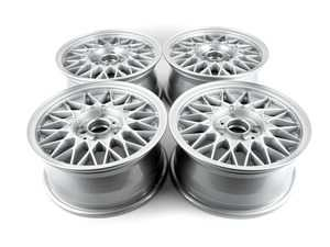 """ES#2730450 - 36112225540KT - 14"""" Style 5 Cross Spoke Wheel - Square Set Of 4 - 14x6.5 ET30 57.1mm CB, 4x100 bolt pattern - includes center caps. Commonly referred to as """"Basketweaves"""". - Genuine BMW - BMW"""