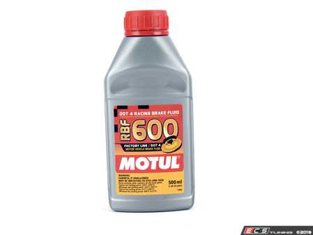 ES#261392 - 8069HC - RBF 600 Racing Brake Fluid - 500mL - Boiling point - Dry 312C (594F) / Wet 216C (421F) - Motul - BMW Volkswagen MINI