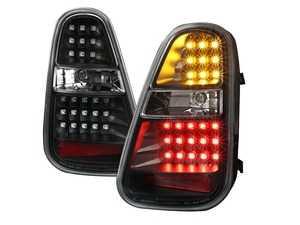 ES#4000063 - LT-MINI06JMLED-T - Black Blacking LED Tail Light - Pair LT-MINI06JMLED-TM - Stylish aftermarket LED tail lights for your 7/2004+ R50 R52 R53 with a black housing - Spec-D Tuning - MINI
