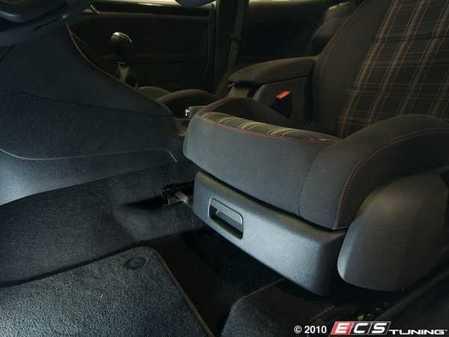 ES#1866783 - 1K0898036 - Driver's Seat Tray Kit - Titanium Black - Great way of getting extra storage space in your MK6 - Genuine Volkswagen Audi - Volkswagen
