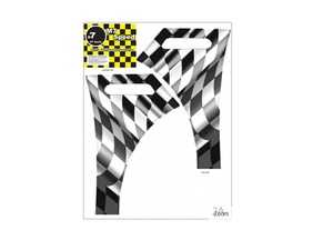 ES#4000575 - 92-9104 - M7 A-Fender Wrap For R50-R53 MINI Cooper Checkered Flag Waving - Add some checkers to your side fender - M7 Speed - MINI