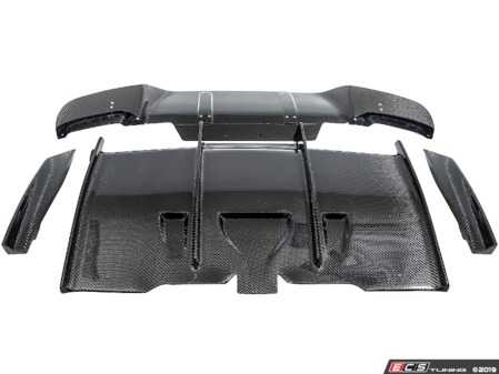 ES#4000669 - B6232RCCF - Rear Diffuser Assembly V2 - Carbon Fiber Rear Diffuser assembly Version 2 - PSM Dynamics - BMW