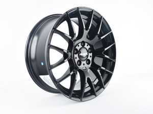 """ES#4000666 - 030-10SDA - 18"""" Style 030 Wheel - Single Wheel - *Scratch And Dent* - *Please see description prior to ordering* 18x8, ET35, 5x112, 72.6CB Gloss Black - Alzor - Audi Volkswagen"""